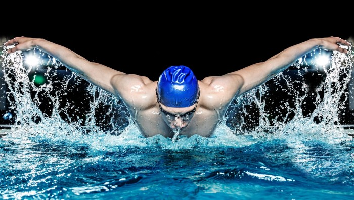 Swimmer. Athletic performance